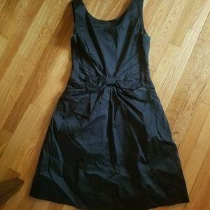 Kate spade black jillian bow waist dress. Sz 8